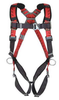 MSA FULL BODY HARNESS, UNIVERSAL, 400 LB., RED. 1 EACH