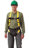 MSA FULL BODY HARNESS, UNIVERSAL, YELLOW. 1 EACH.