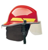 Bullard Fiberglass structural fire helmet with face shield. 1 each.