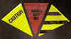 60' Black And Yellow Stripes Pennants